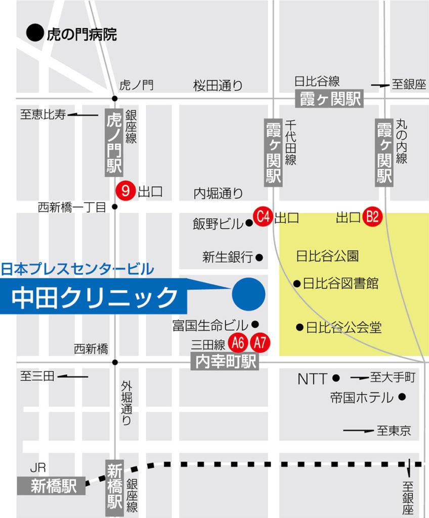 中田クリニック地図